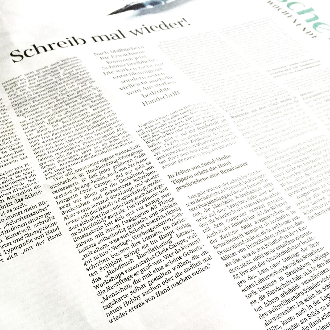 All Things Letters in der Süddeutschen Zeitung
