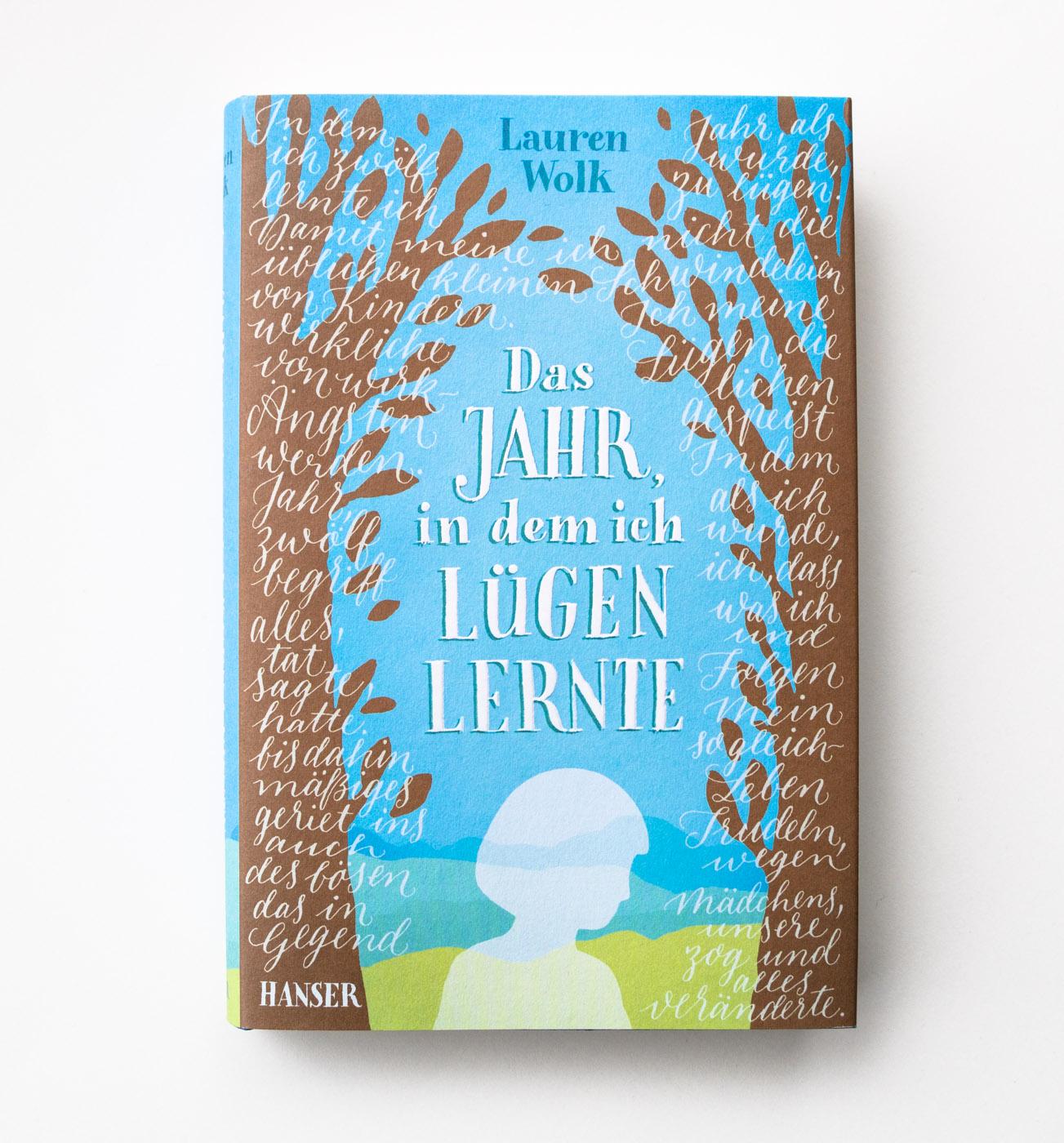 Buchumschlag mit Handlettering für den Hanser Verlag