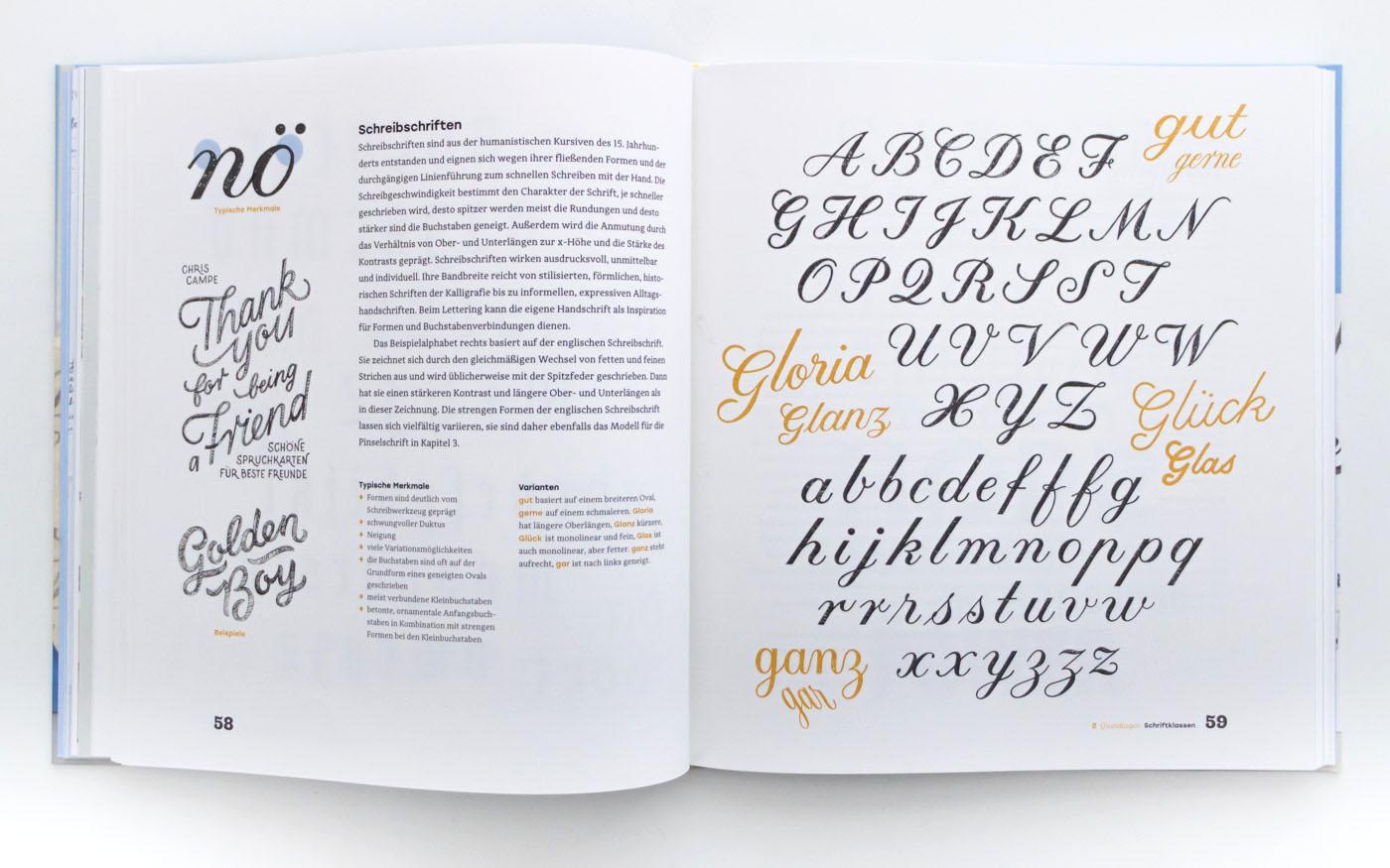 Handbuch Handlettering – Handlettering Anleitung von Chris Campe, ISBN 978-3-258-60165-6
