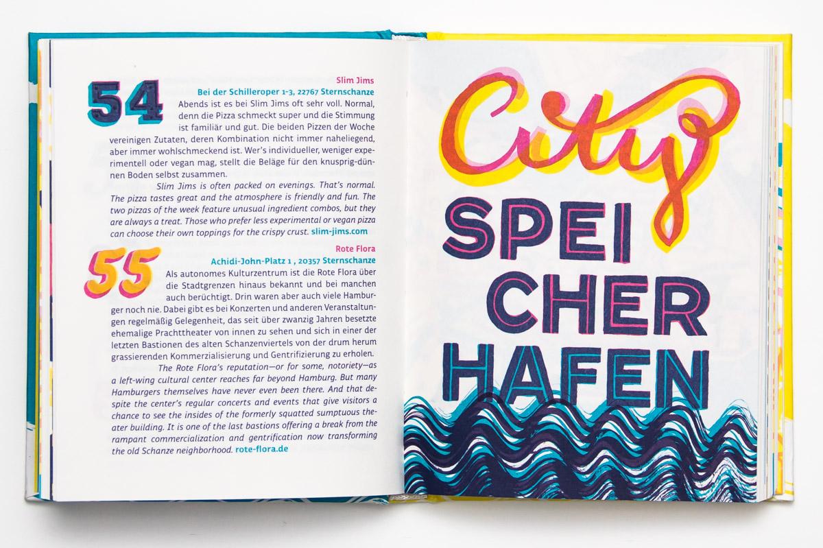 """Bücher von Chris Campe: Beispielseiten aus dem Hamburg-Reiseführer""""Toller Ort"""""""