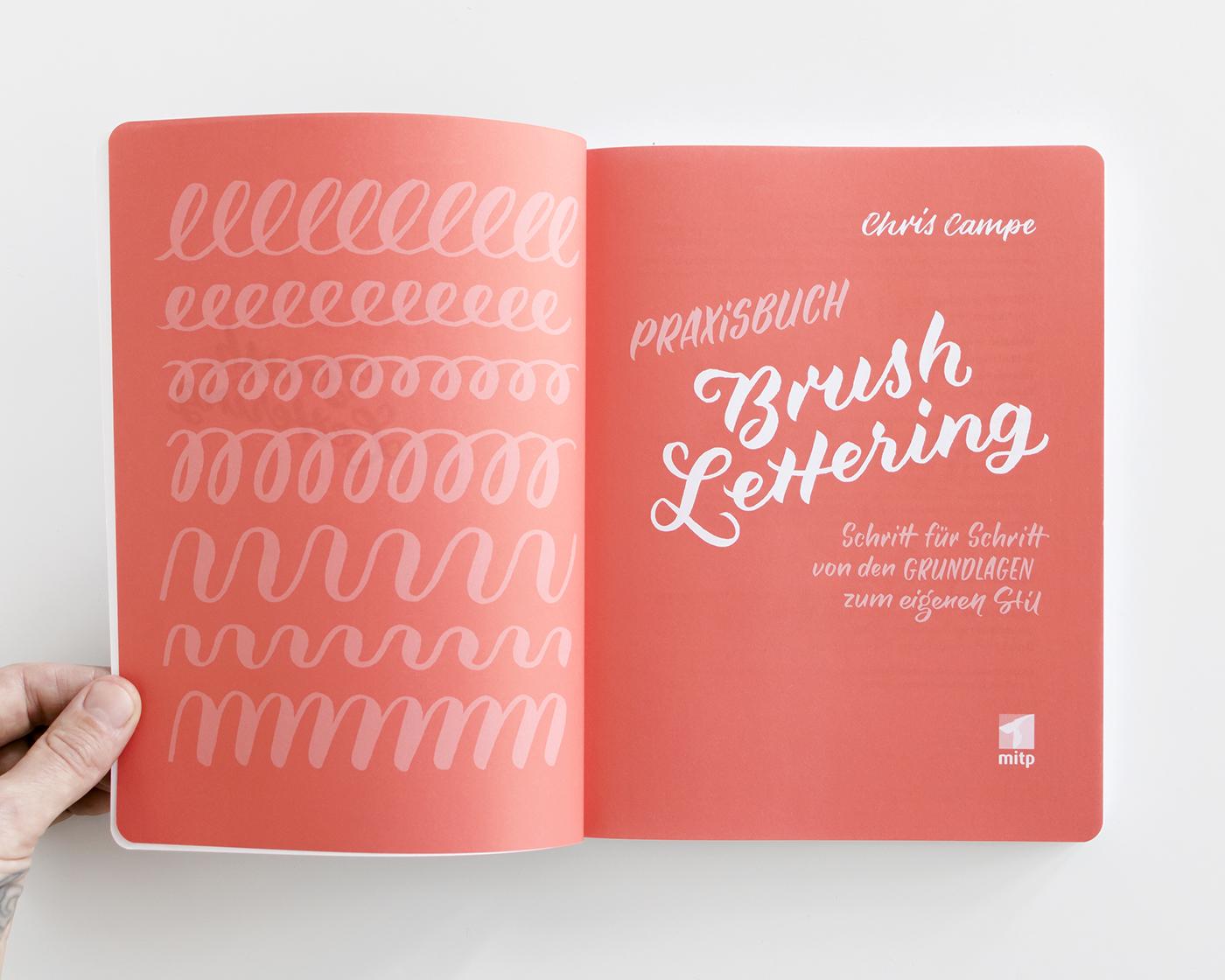 "Titelblatt ""Praxisbuch Brush Lettering"" von Chris Campe"
